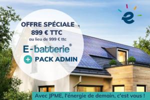 Energie solaire JPME e-batterie pack admin